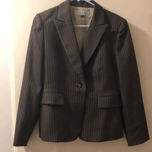 Brown Pinstripe Tahari Suit